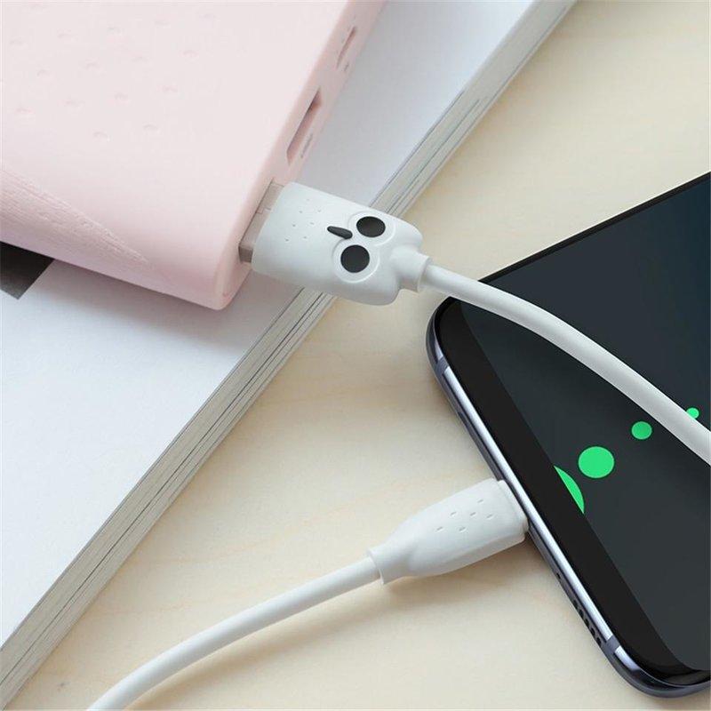 Cablu de date Lightning Hoco OWL KX1 1M Lungime - Roz