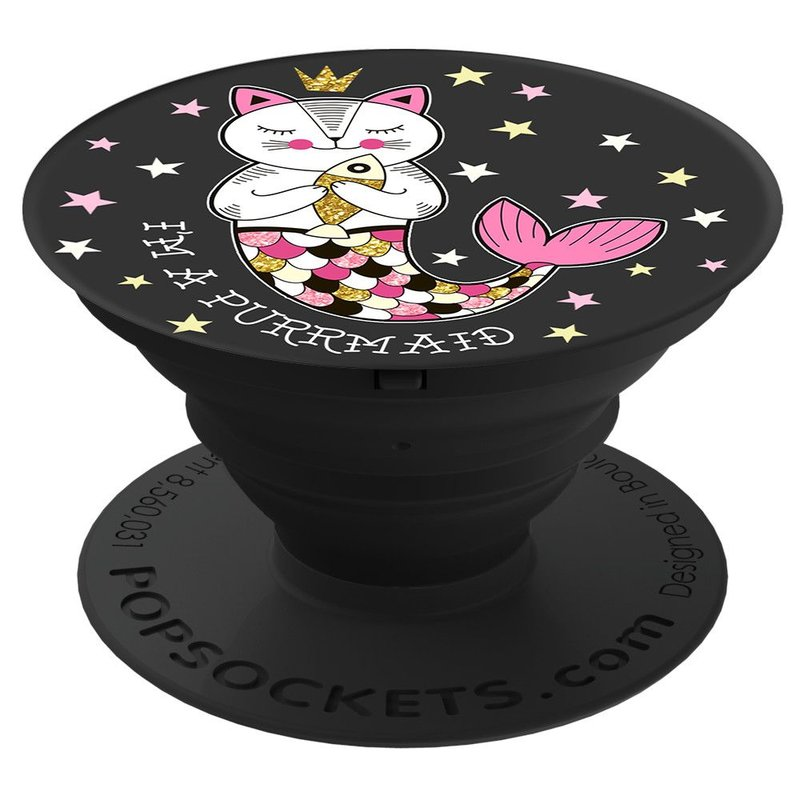 Popsockets Original, Suport Cu Functii Multiple - Purrmaid