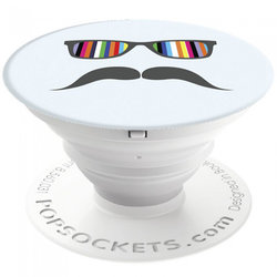 Popsockets Original, Suport Cu Functii Multiple - Mustache Rainbow