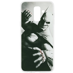Husa Samsung Galaxy A6 Plus 2018 Cu Licenta DC Comics - Grey Batman