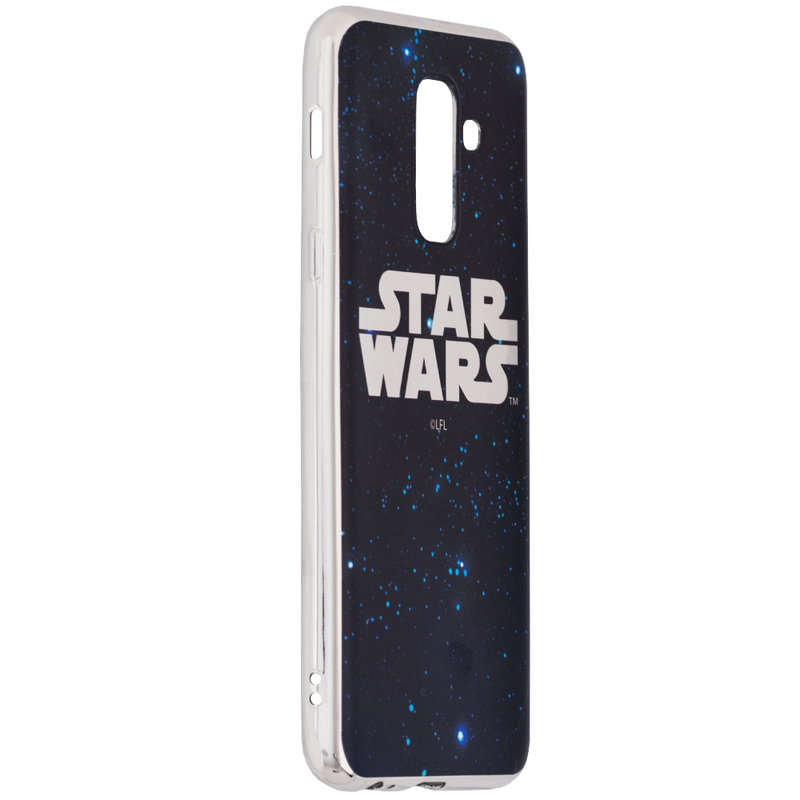 Husa Samsung Galaxy A6 Plus 2018 Cu Licenta Disney - Star Wars Luxury Silver