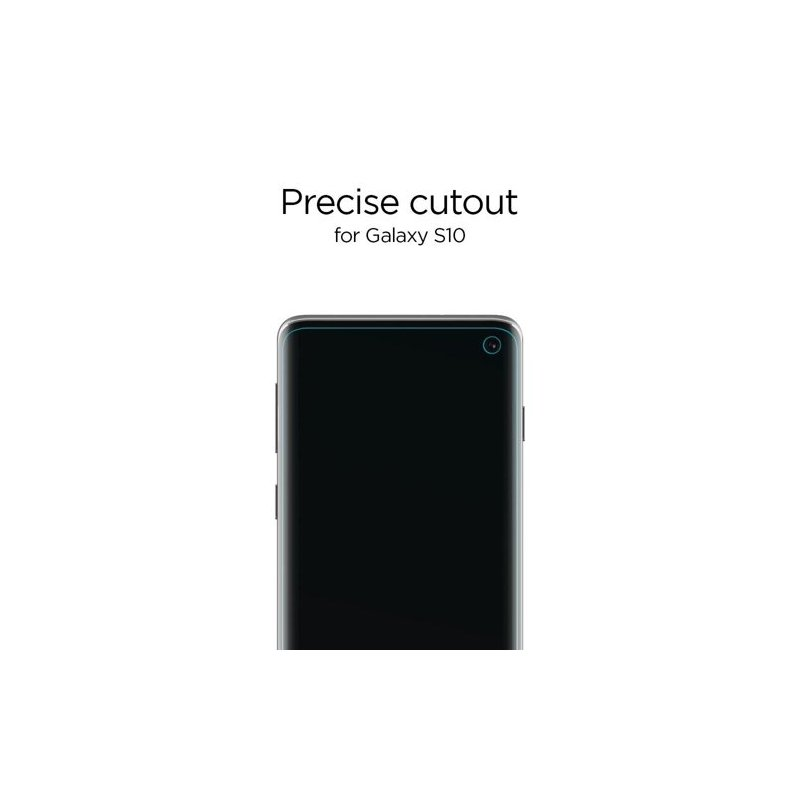 Folie Protectie FullCover Samsung Galaxy S10 Spigen Neo Flex(2 Pack) - Clear