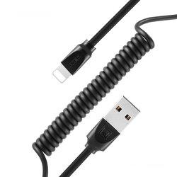 Cablu de date Lightning Remax RC-117i 1M 2.4A - Negru