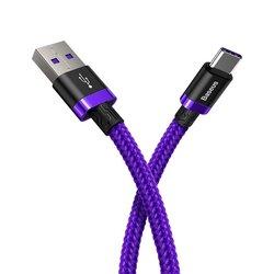 Cablu de date Type-C Baseus Flash Charge 2M Lungime Cu Invelis Textil - Purple CATZH-B05
