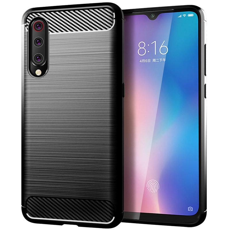 Husa Xiaomi Mi 9 TPU Carbon Negru