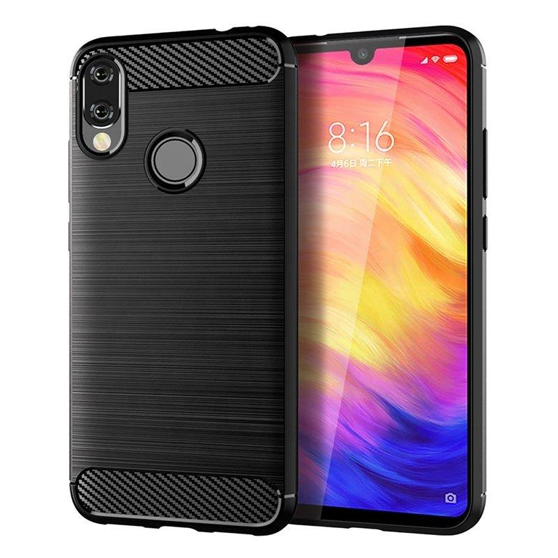 Husa Xiaomi Redmi Note 7 TPU Carbon Negru