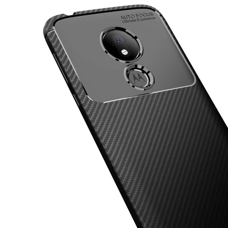 Husa Motorola Moto G7 Power Mobster Carbon Skin Negru