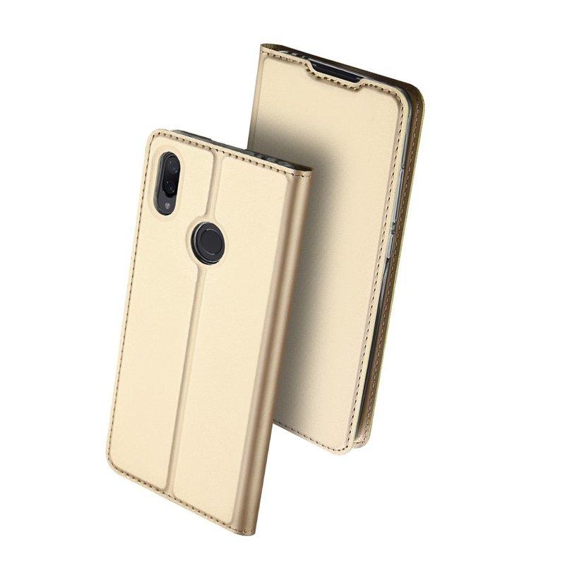 Husa Xiaomi Redmi Note 7 Dux Ducis Flip Stand Book - Auriu