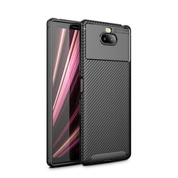 Husa Sony Xperia 10 Mobster Carbon Skin Negru