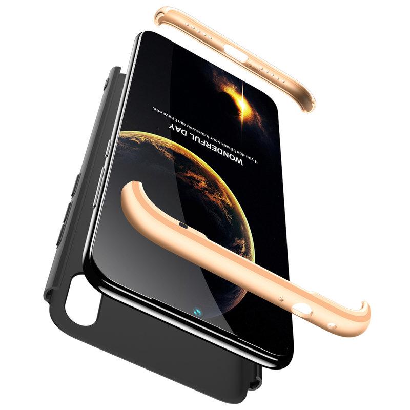 Husa Xiaomi Redmi Note 7 GKK 360 Full Cover Negru-Auriu