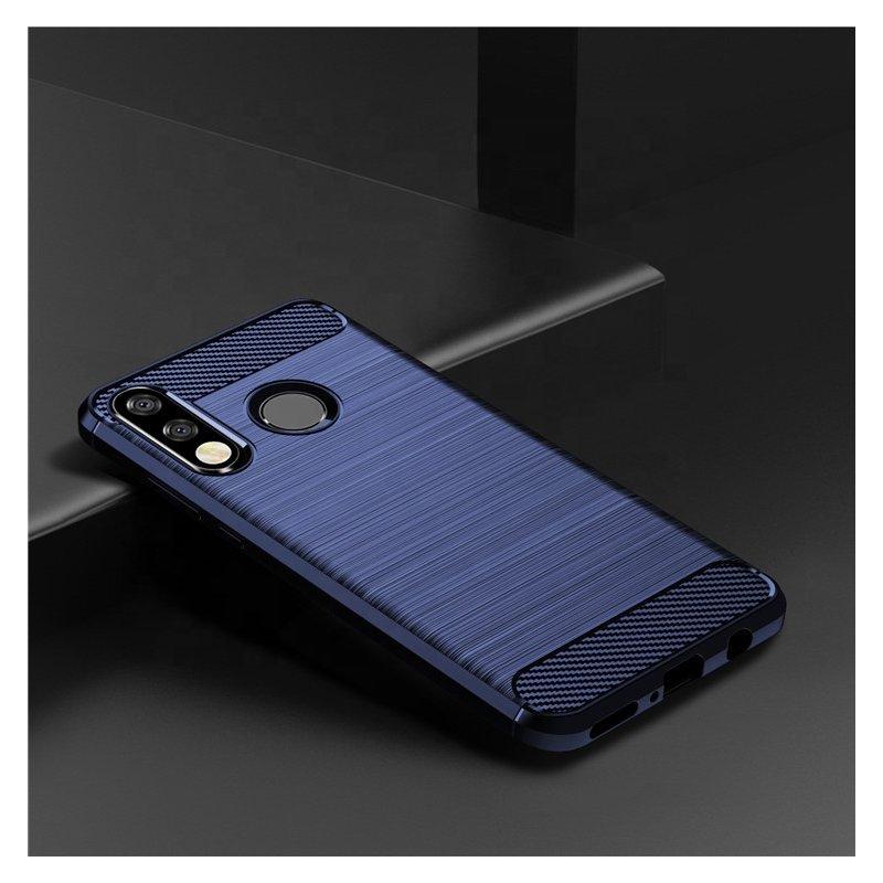 Husa Huawei P30 Lite TPU Carbon Albastru