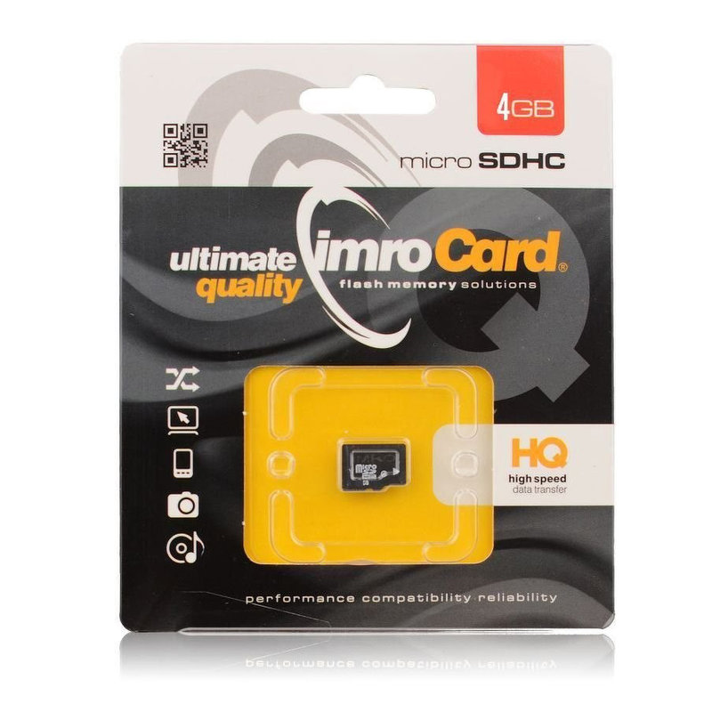 Card de memorie Imro Micro SDHC 4 GB Class 10 + Adaptor SD