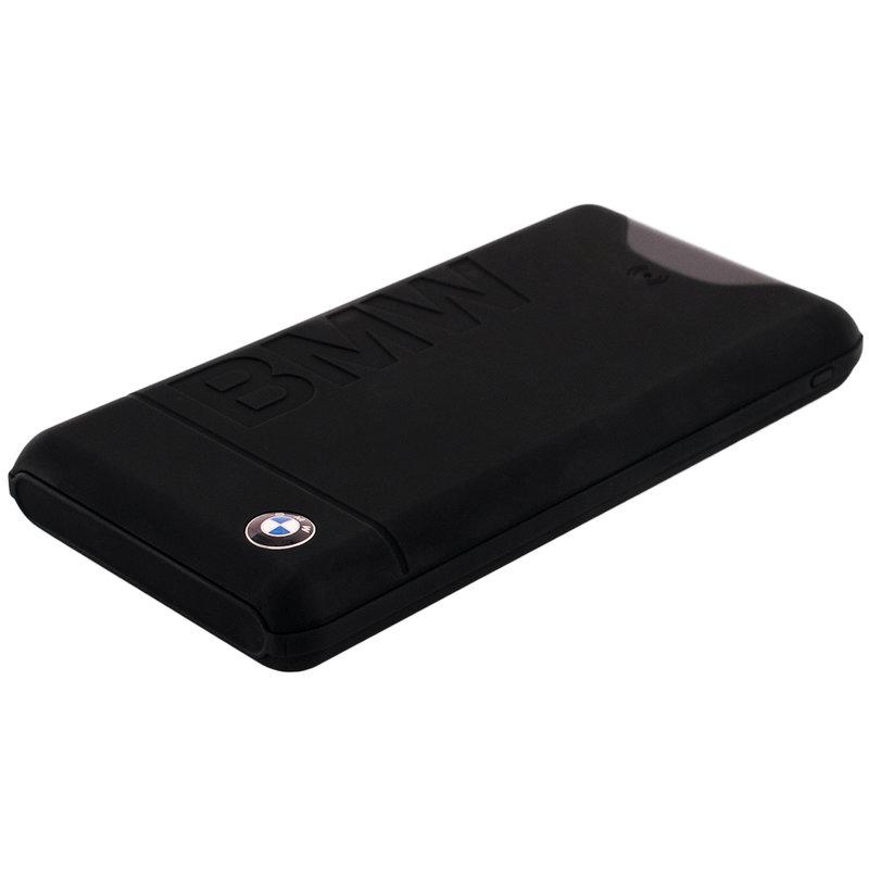 Acumulator extern Wireless 10000 mAh BMW, 2 Porturi USB + Qi Tech. - Negru BMWCPB10KLOB