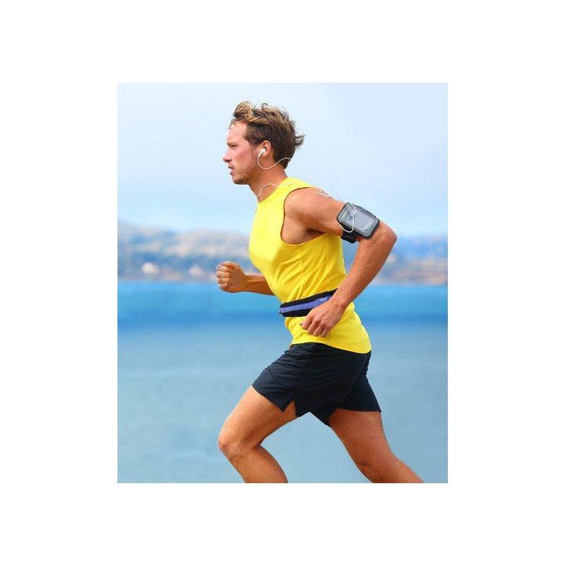 Husa Alergare Tip Curea Jogging Duble Pack Bag - Negru