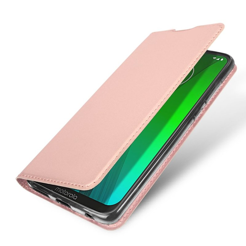 Husa Motorola Moto G7 Plus Dux Ducis Flip Stand Book - Roz