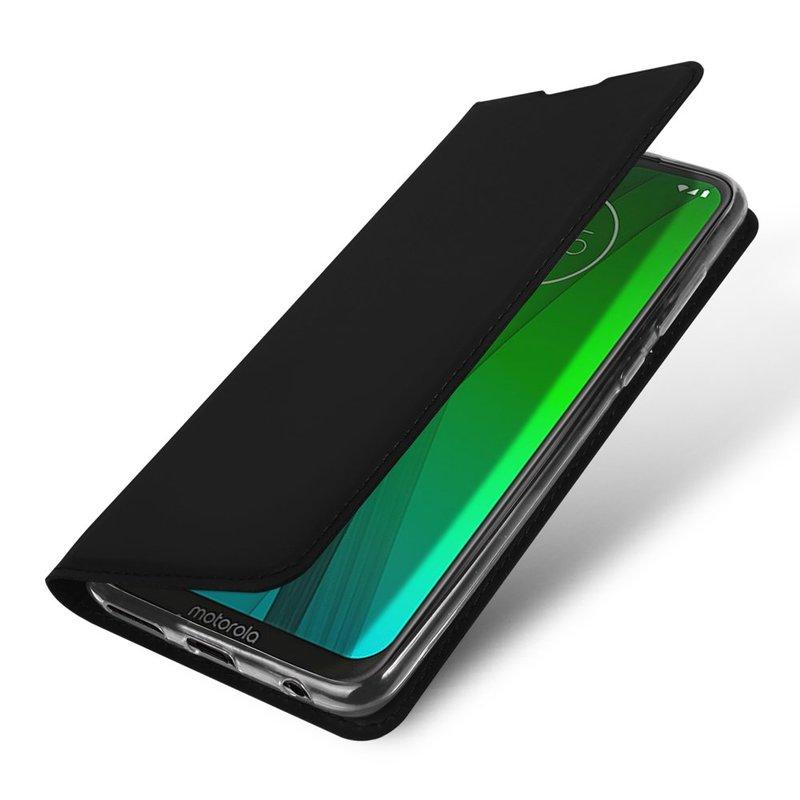 Husa Motorola Moto G7 Plus Dux Ducis Flip Stand Book - Negru