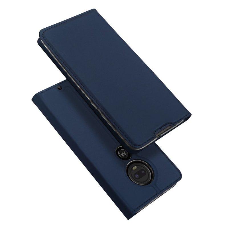 Husa Motorola Moto G7 Plus Dux Ducis Flip Stand Book - Albastru