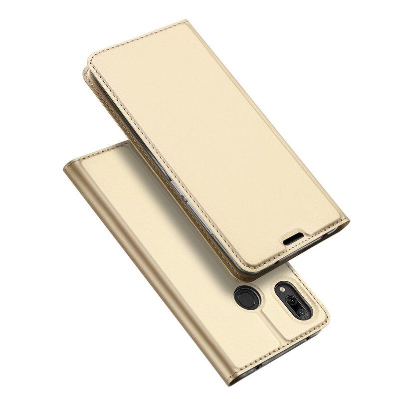 Husa Huawei Y7 2019 Dux Ducis Flip Stand Book - Auriu