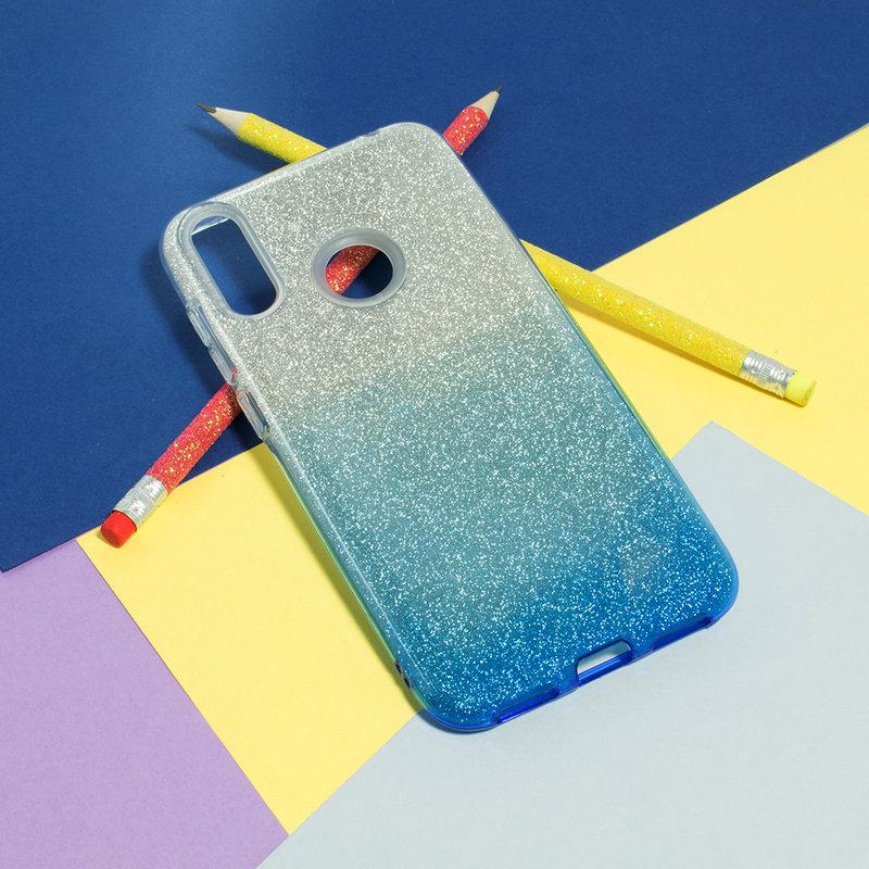 Husa Huawei Y7 2019 Gradient Color TPU Sclipici - Albastru