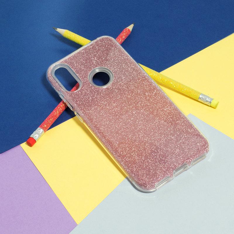 Husa Huawei Y6 2019 Color TPU Sclipici - Roz