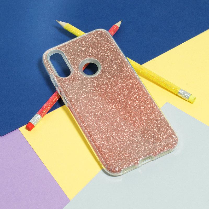 Husa Xiaomi Redmi Note 7 Color TPU Sclipici - Roz