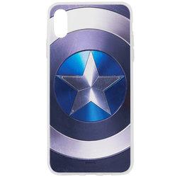 Husa iPhone XS Max Cu Licenta Marvel - Captain America Logo