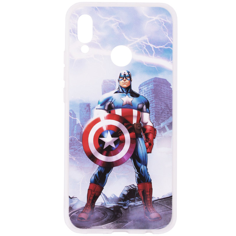 Husa Huawei P20 Lite Cu Licenta Marvel - Victorious Captain America