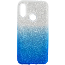 Husa Xiaomi Redmi Note 7 Gradient Color TPU Sclipici - Albastru