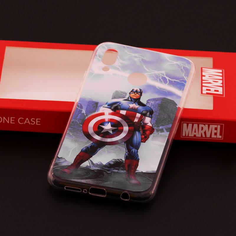 Husa Huawei P20 Lite Cu Licenta Marvel - Victorious Captain America