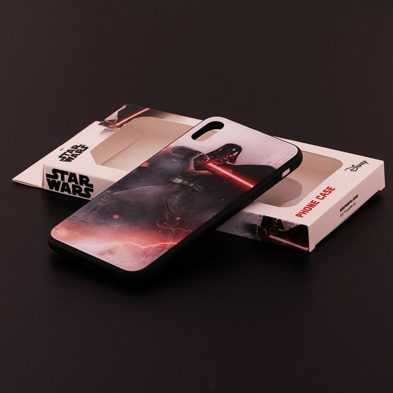 Husa iPhone XS Max Premium Glass Cu Licenta Disney - Vader's Lightsaber
