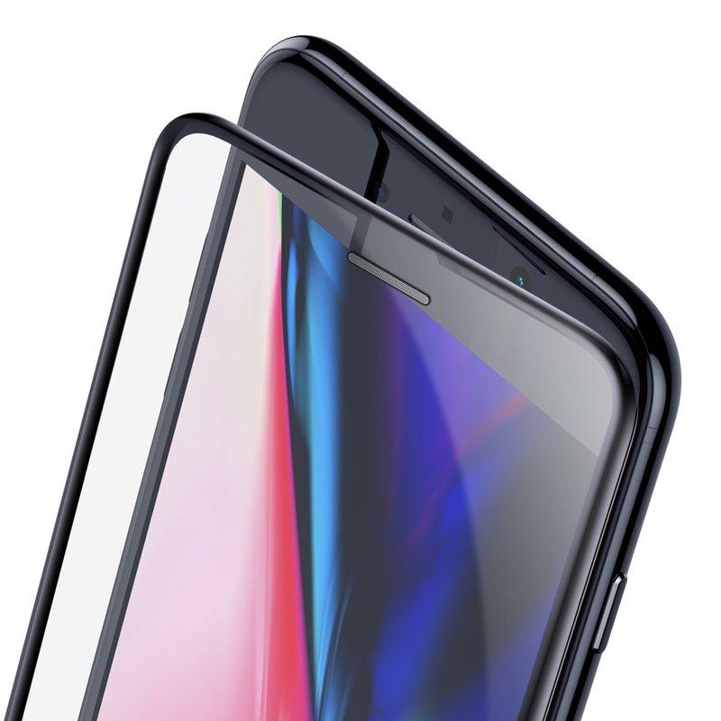 Folie Sticla Curbata iPhone 8 Plus Baseus Speaker Dust Protector -SGAPIPH8P-WA01- Black