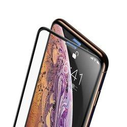 Folie Sticla Curbata iPhone XS Max Baseus Speaker Dust Protector -SGAPIPH65-WA01- Black