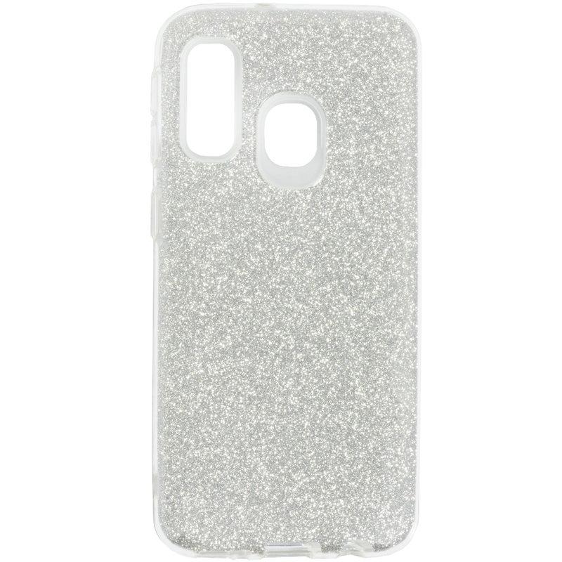 Husa Samsung Galaxy A40 Color TPU Sclipici - Argintiu