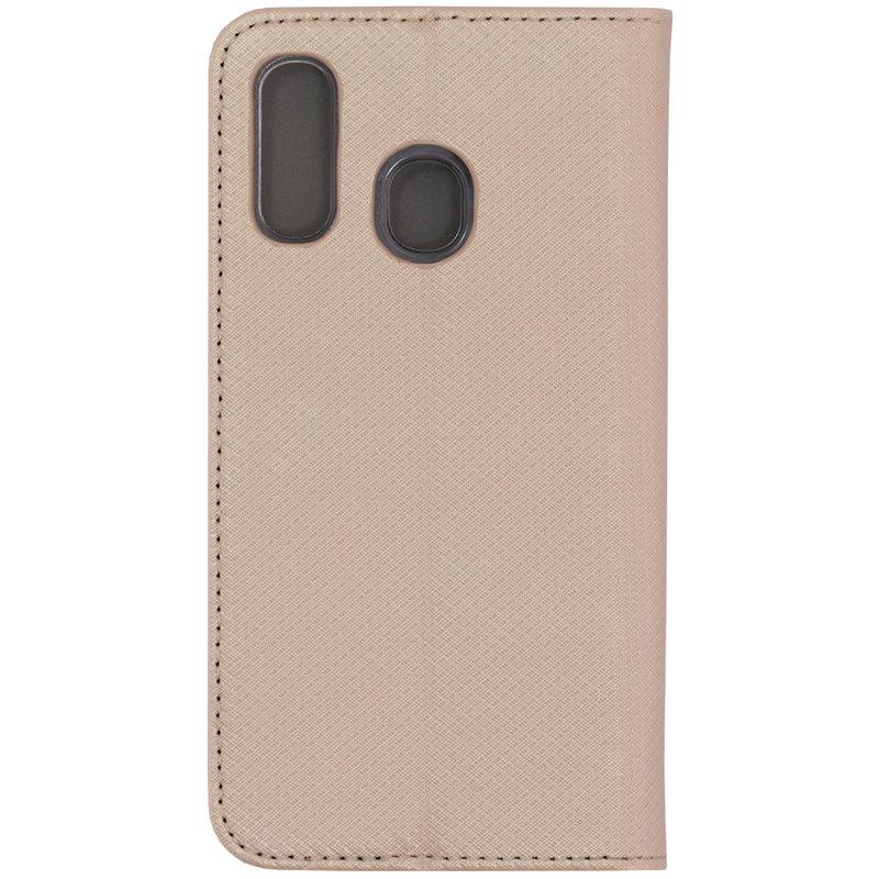 Husa Smart Book Samsung Galaxy A40 Flip Auriu
