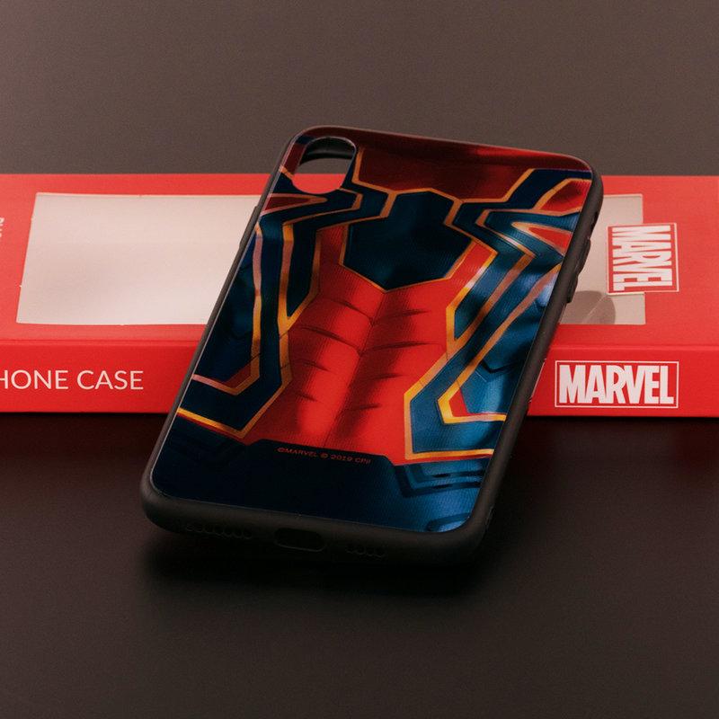Husa iPhone XS Max Premium Glass Cu Licenta Marvel - Spider Suit