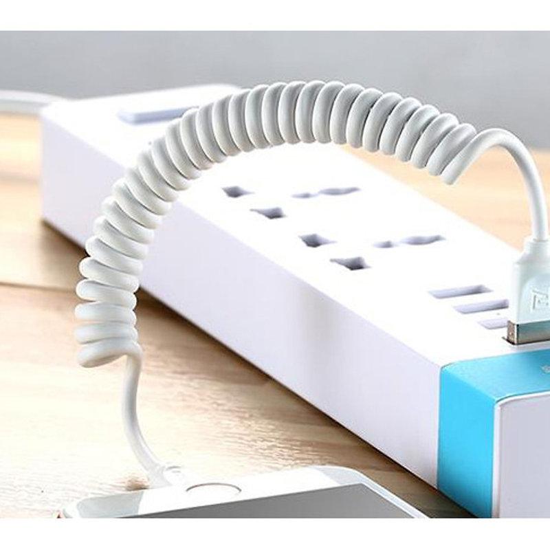 Cablu de date MicroUSB Remax Radiance Pro RC-117a 2.4A lungime 100cm - Alb