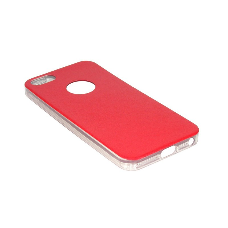 Husa iPhone SE, 5, 5s Jelly Leather - Rosu