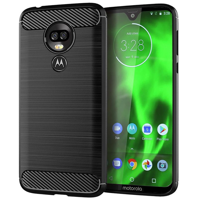 Husa Motorola Moto G7 Power TPU Carbon Negru