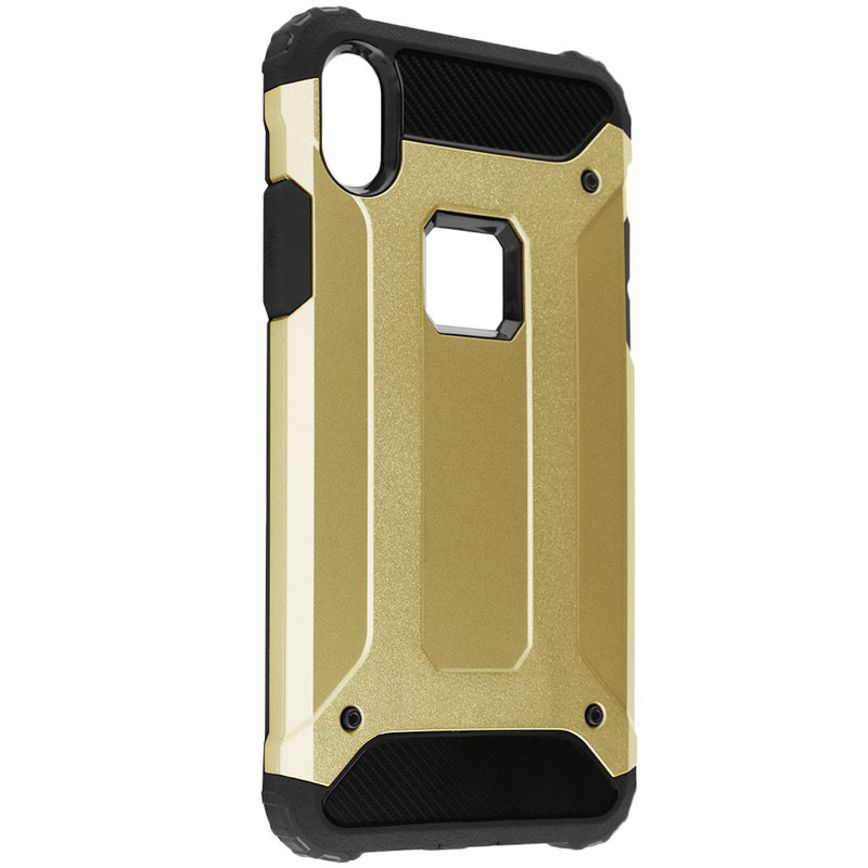 Husa iPhone XS Max Mobster Hybrid Armor - Auriu