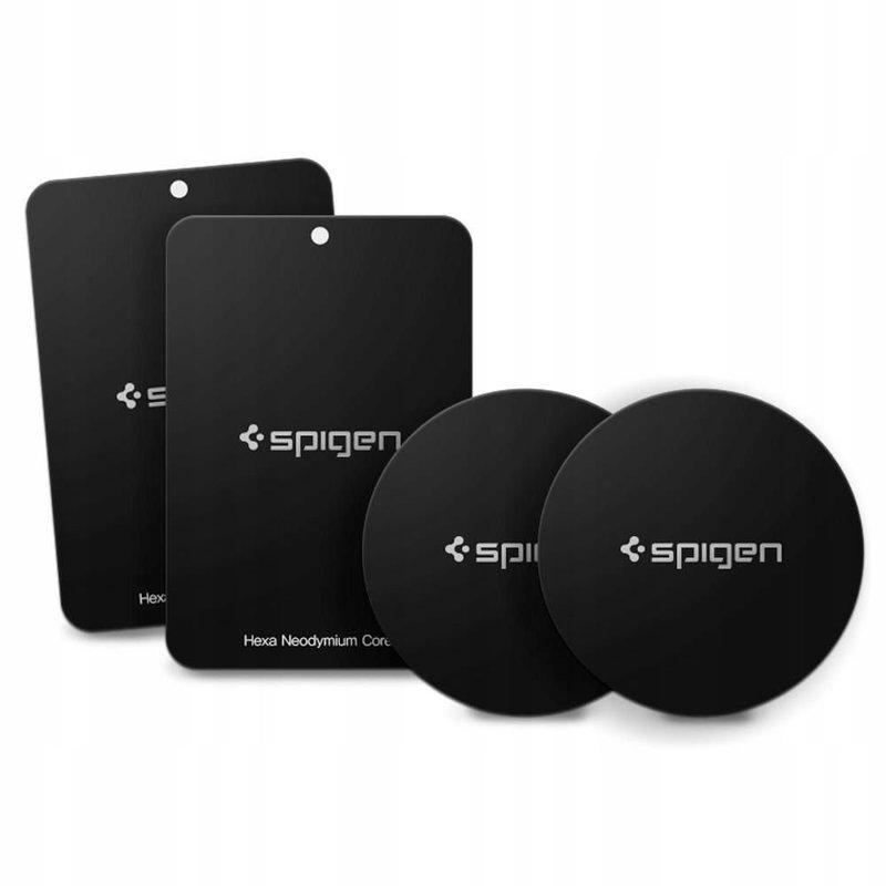 Pachet 4x Placa Metalica Autoadeziva Pentru Suporturi Magnetice Spigen MP-4P - Black