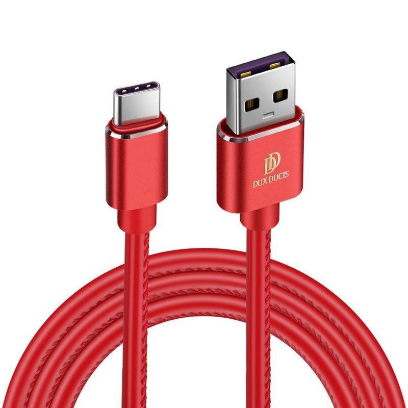 Cablu de date Type C Dux Ducis K-Max 1m/4A, Compatibil Quick Charge 3.0 - Rosu