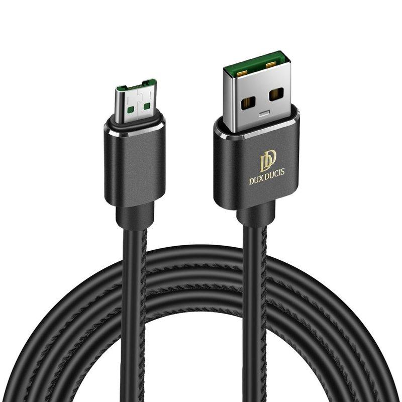 Cablu de date Micro USB Dux Ducis K-Max 1m/4A, Compatibil Quick Charge 3.0 - Negru