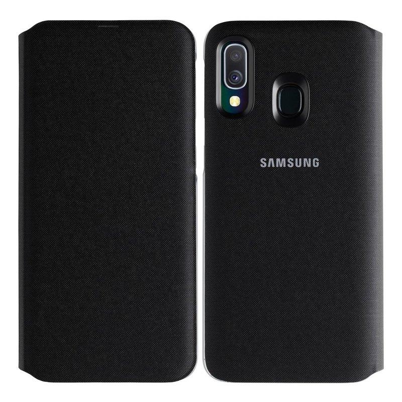 Husa Originala Samsung Galaxy A40 Flip Wallet Black