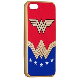 Husa iPhone 5 / 5s / SE Cu Licenta DC Comics - Wonder Woman Luxury Chrome