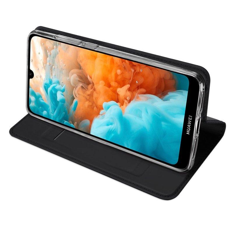 Husa Huawei Y6 2019 Dux Ducis Flip Stand Book - Negru