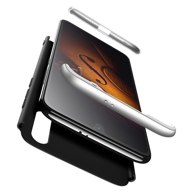 Husa Xiaomi Mi 9 GKK 360 Full Cover Negru-Argintiu