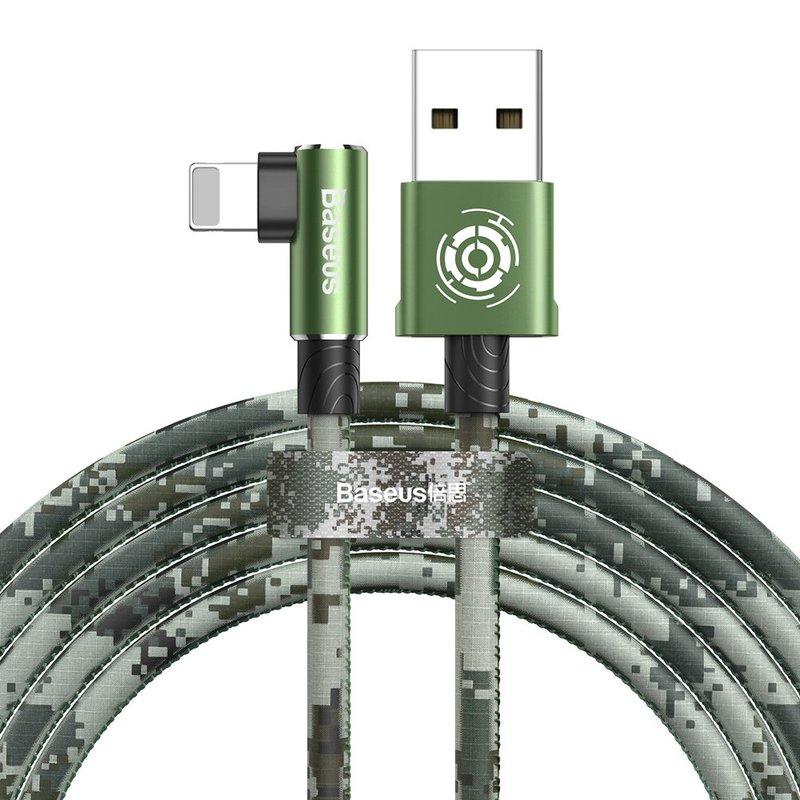 Cablu de date Lightning Baseus Camouflage Game Cable 1M - Black CALMC-A06