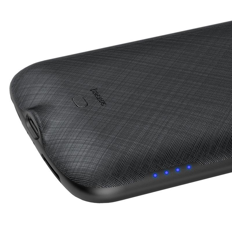 Husa Cu Baterie iPhone XS 4000 mAh Baseus Continuous Backpack - Negru