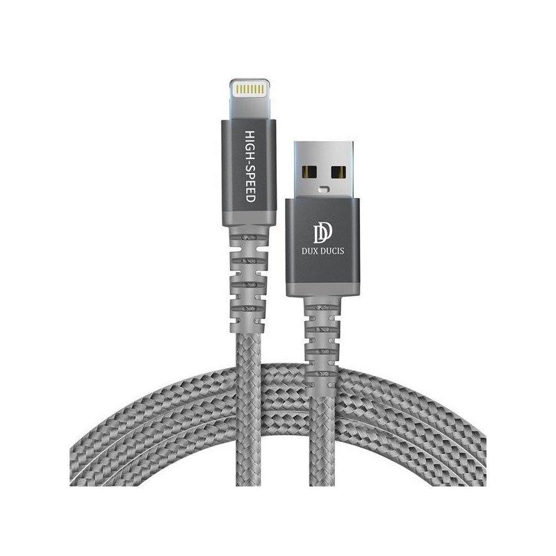 Cablu de date Lightning Dux Ducis K-One 1M 5V/2.4A - Gri