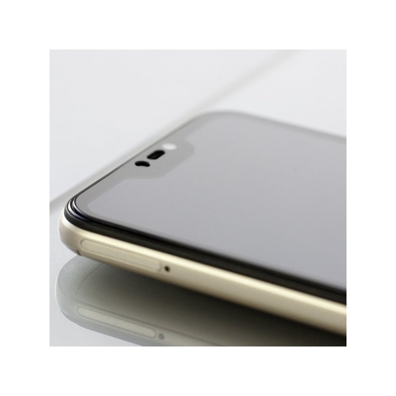 Folie Sticla Curbata Motorola Moto G7 Plus 3Mk Hard Glass FullScreen 9H - Black
